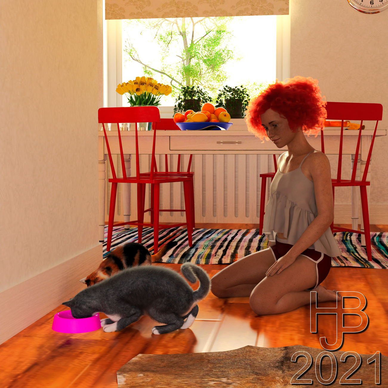 Nelly and Lulu: Luna is visiting by Hajoba