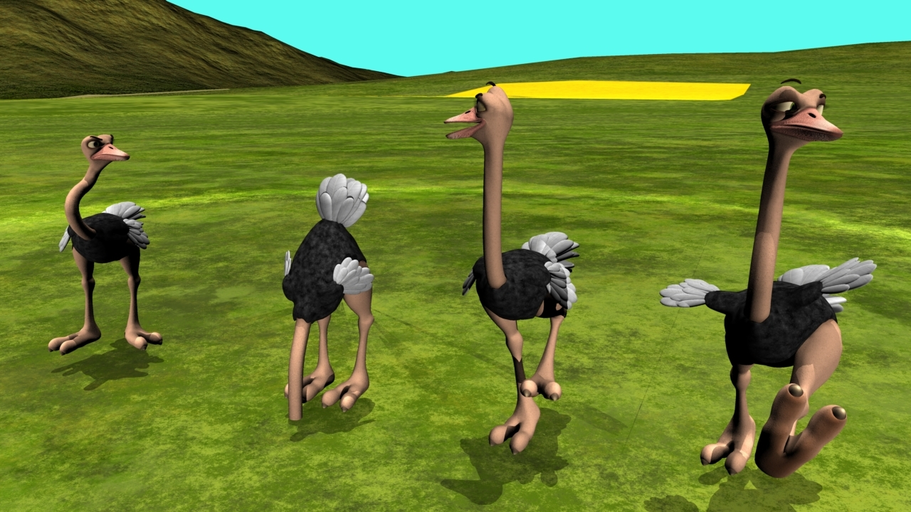 Party time Ostriches by MistyLaraCarrara