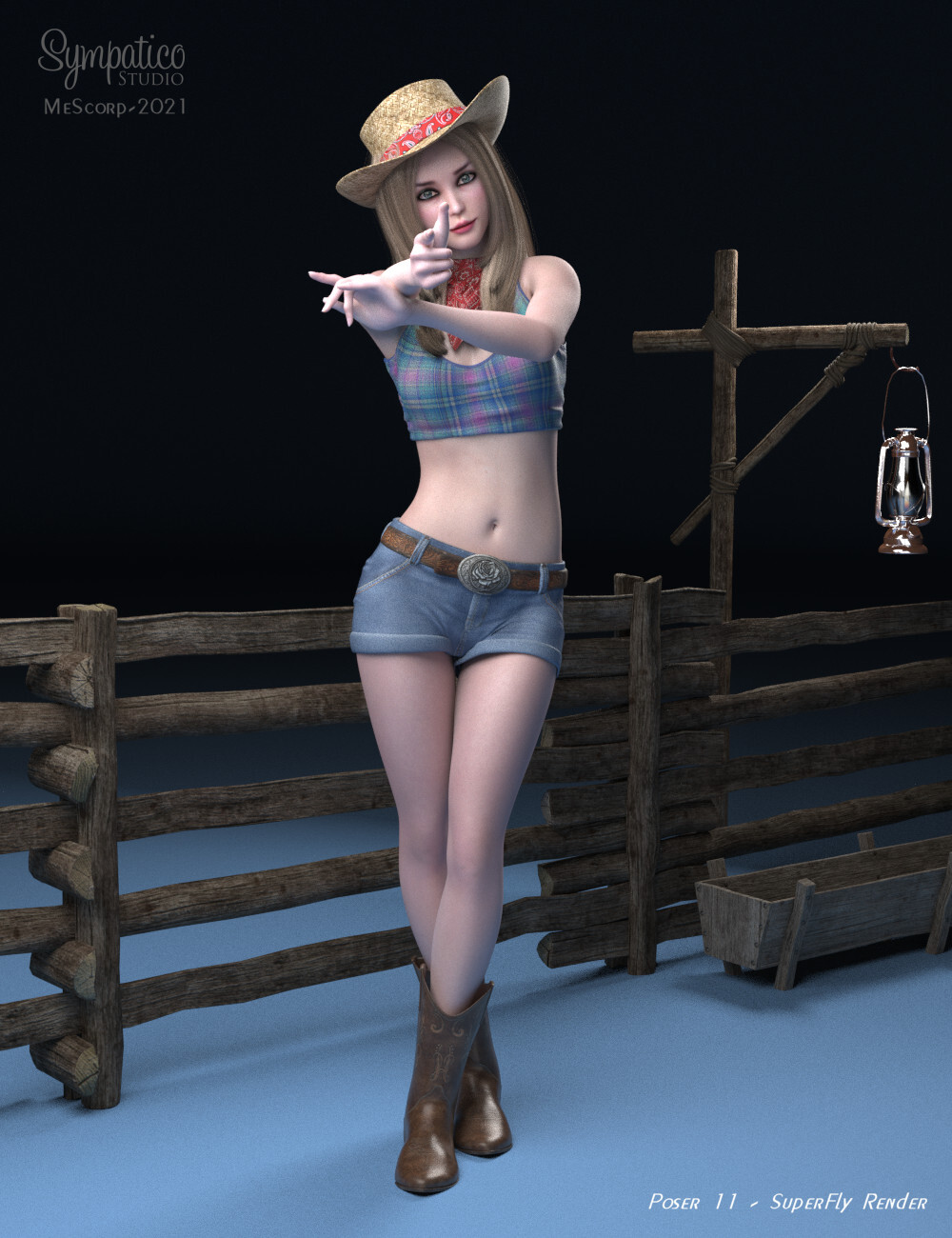 Cowgirl Portrait by mescorp