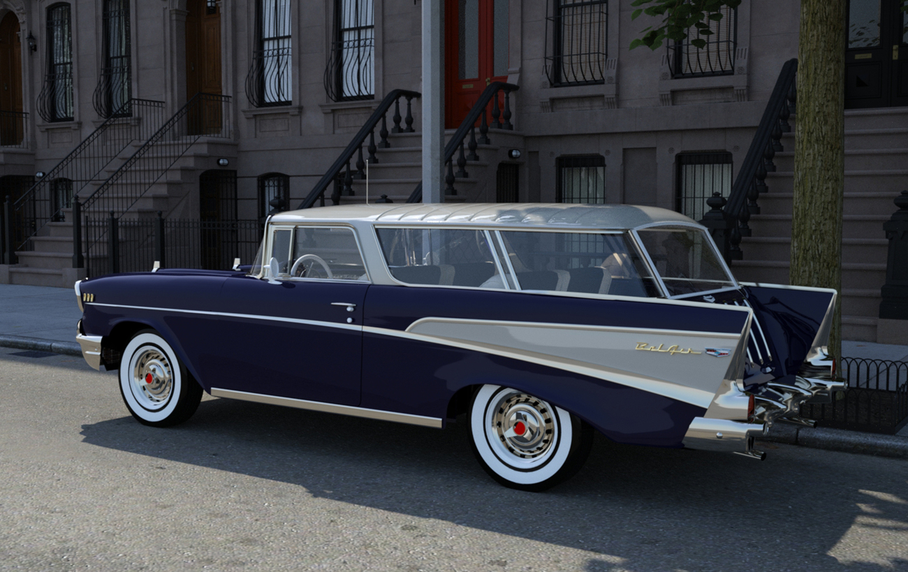 1957 Chevy Nomad station wagon by spad007