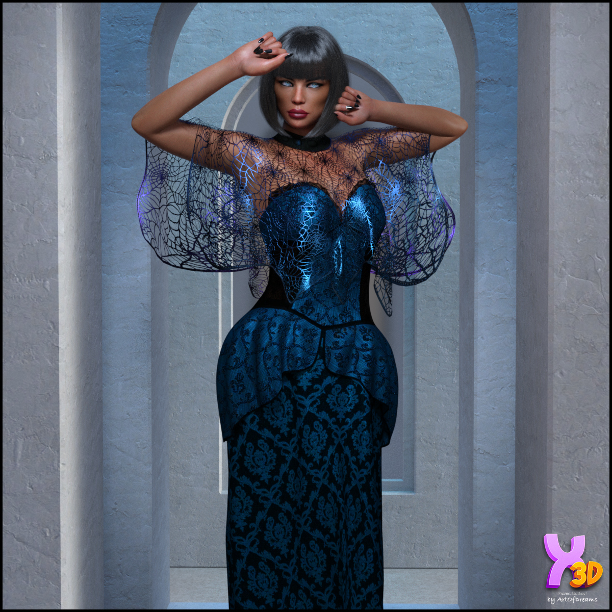 dforce Bewitching Gown & Capes G8F by Kaleya3d by ArtOfDreams
