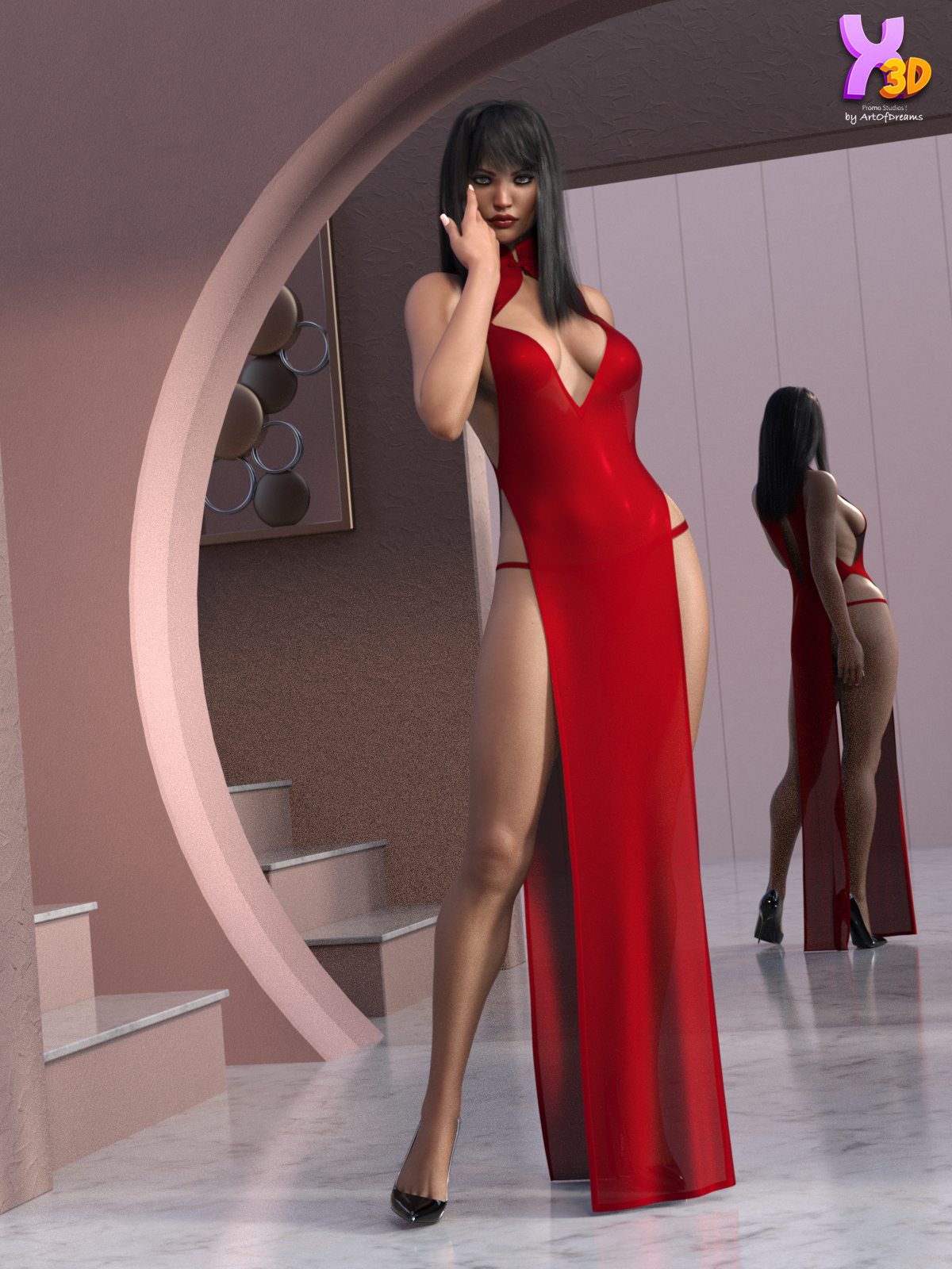 Love You More Gown for G8F by Rhiannon by ArtOfDreams
