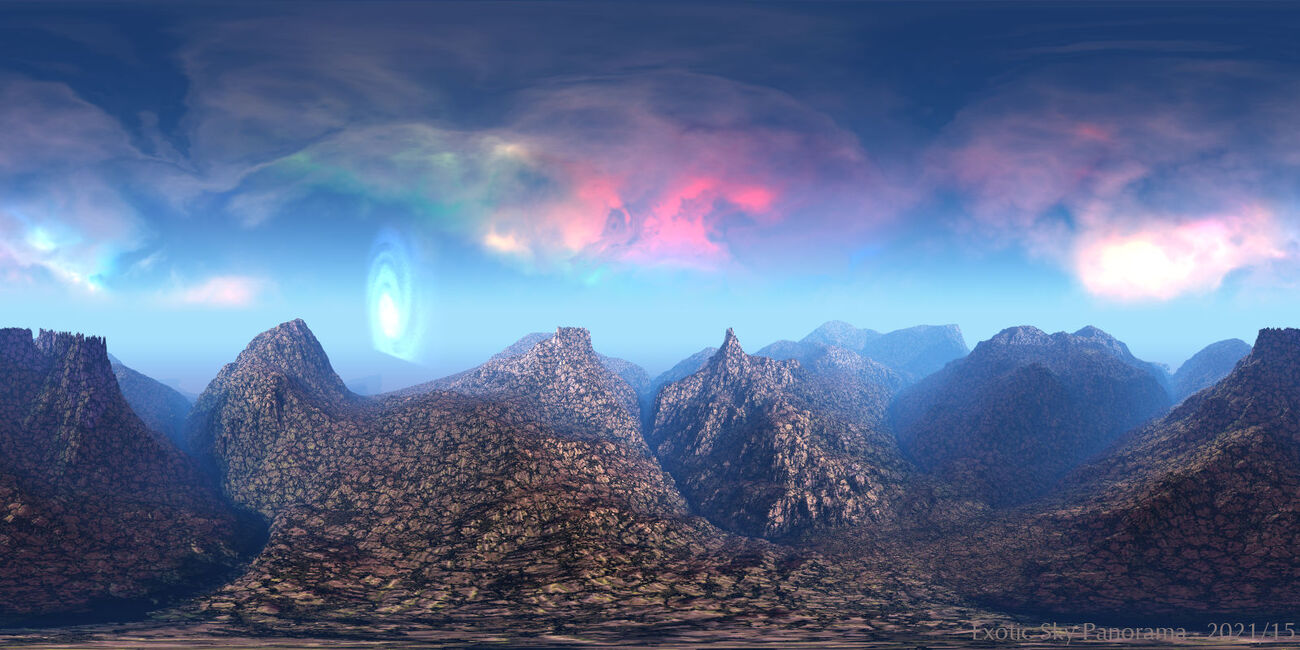 Exotic Sky Panorama by BryceHoro