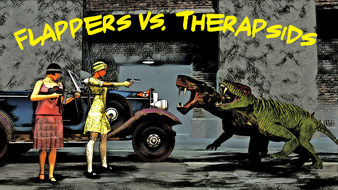 Flappers vs. Therapsids (Version 1) by rps53