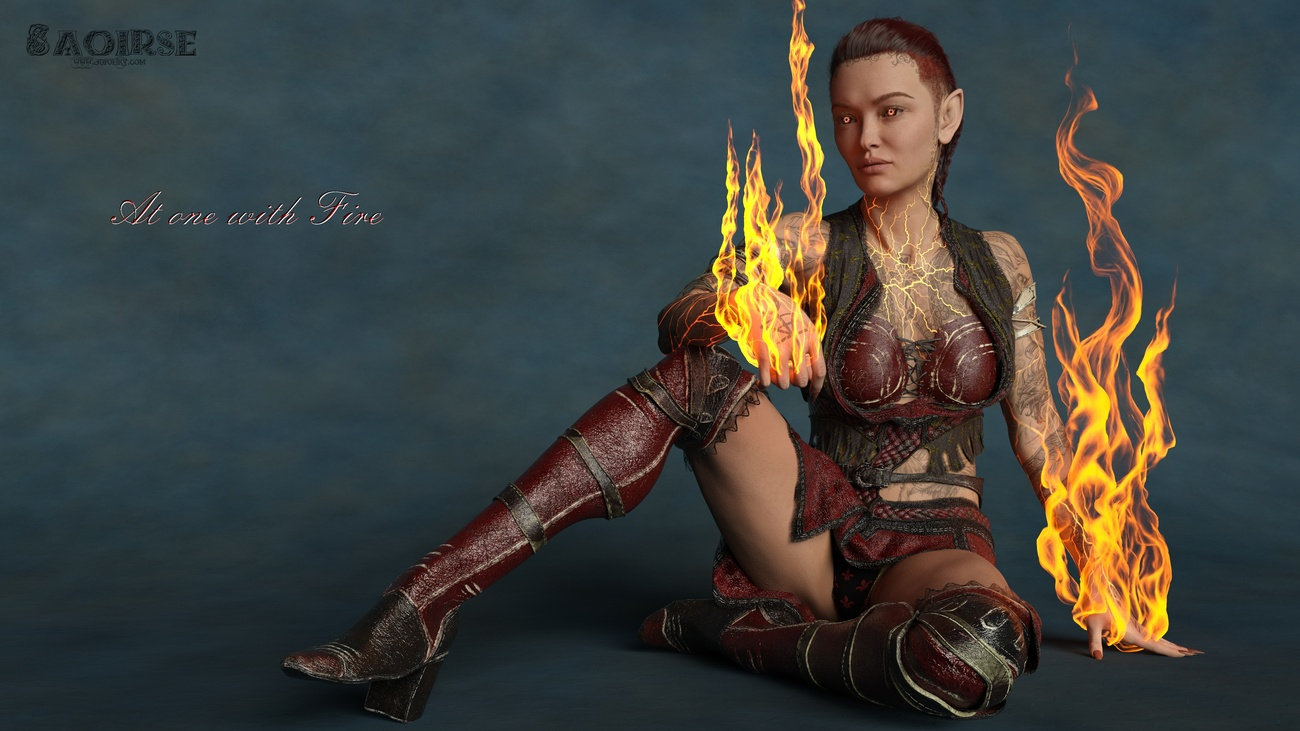 At one with Fire by 3dpoetry