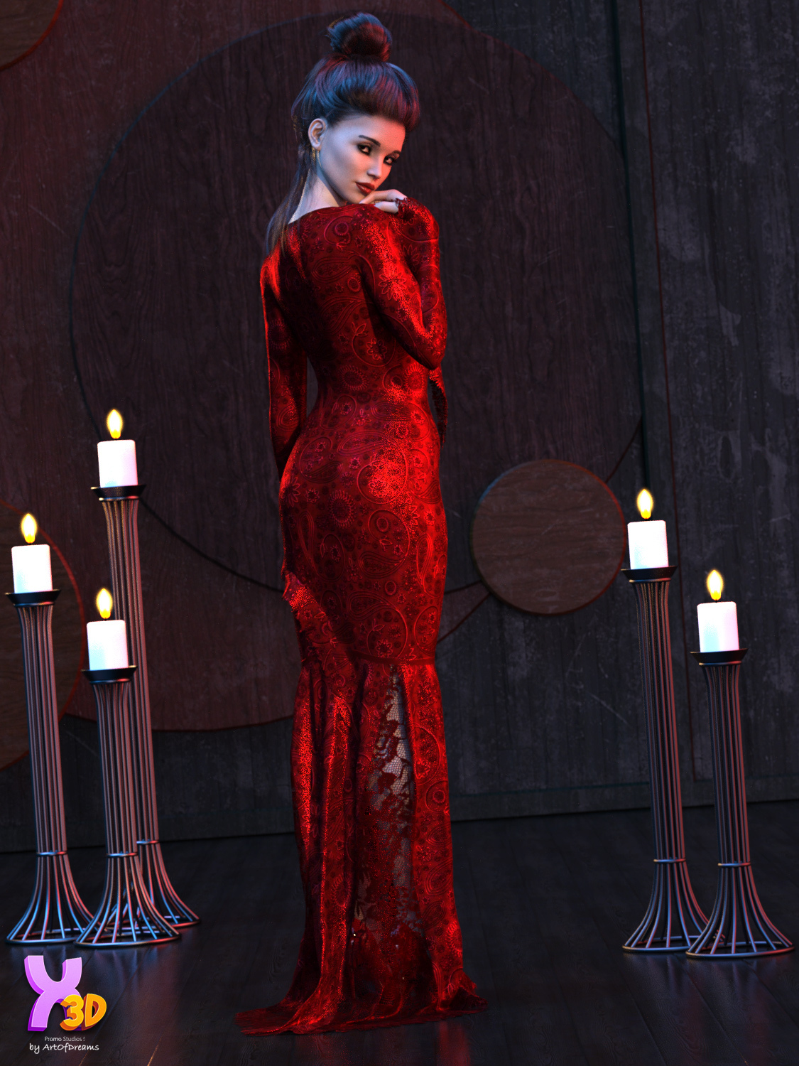 Dforce Mysterious and Spooky G8F by Kaleya3d by ArtOfDreams