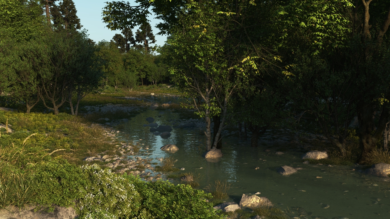 flooded small woodland clearing by iborg64