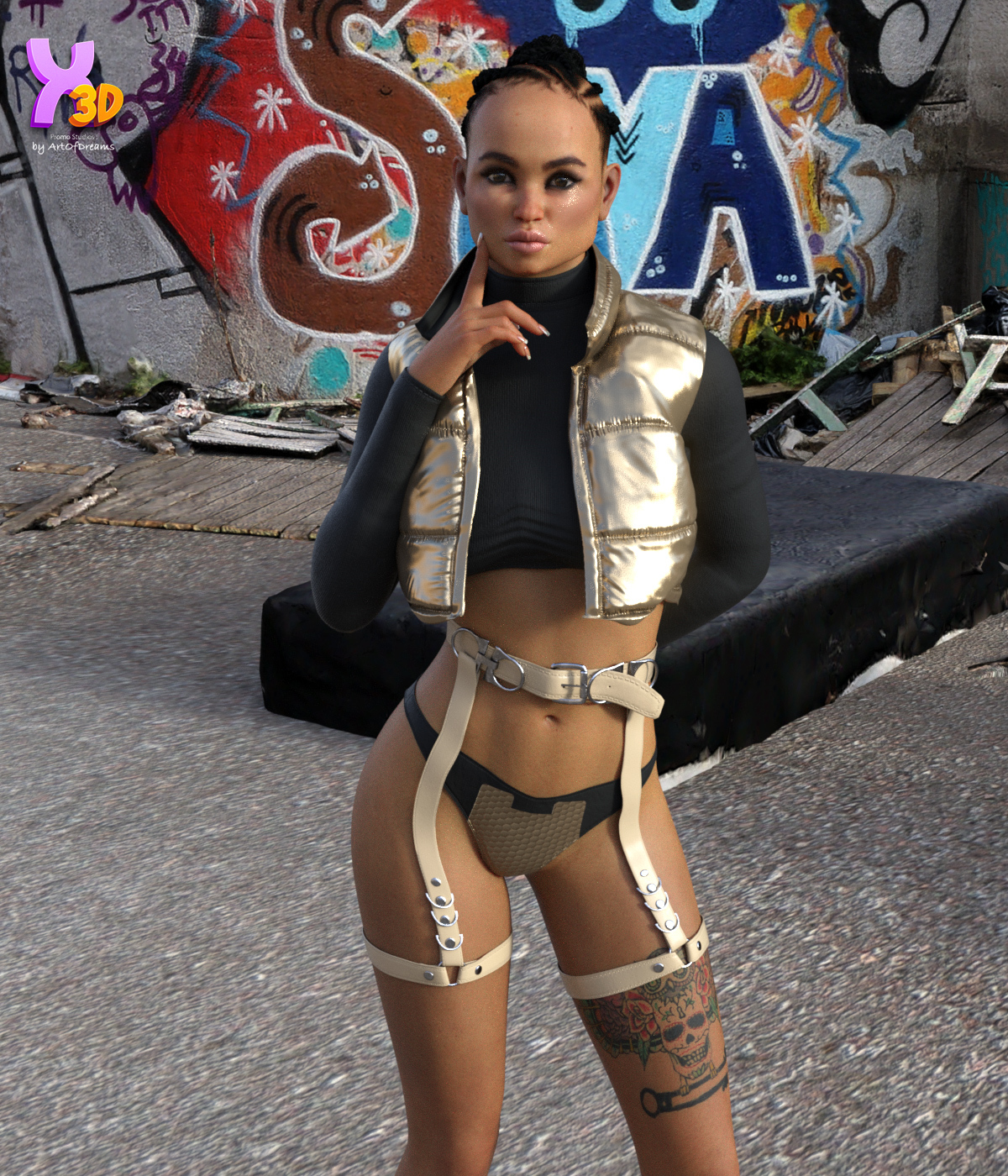 Midnight Runner dForce outfit for G8F & G8.1F  by ArtOfDreams
