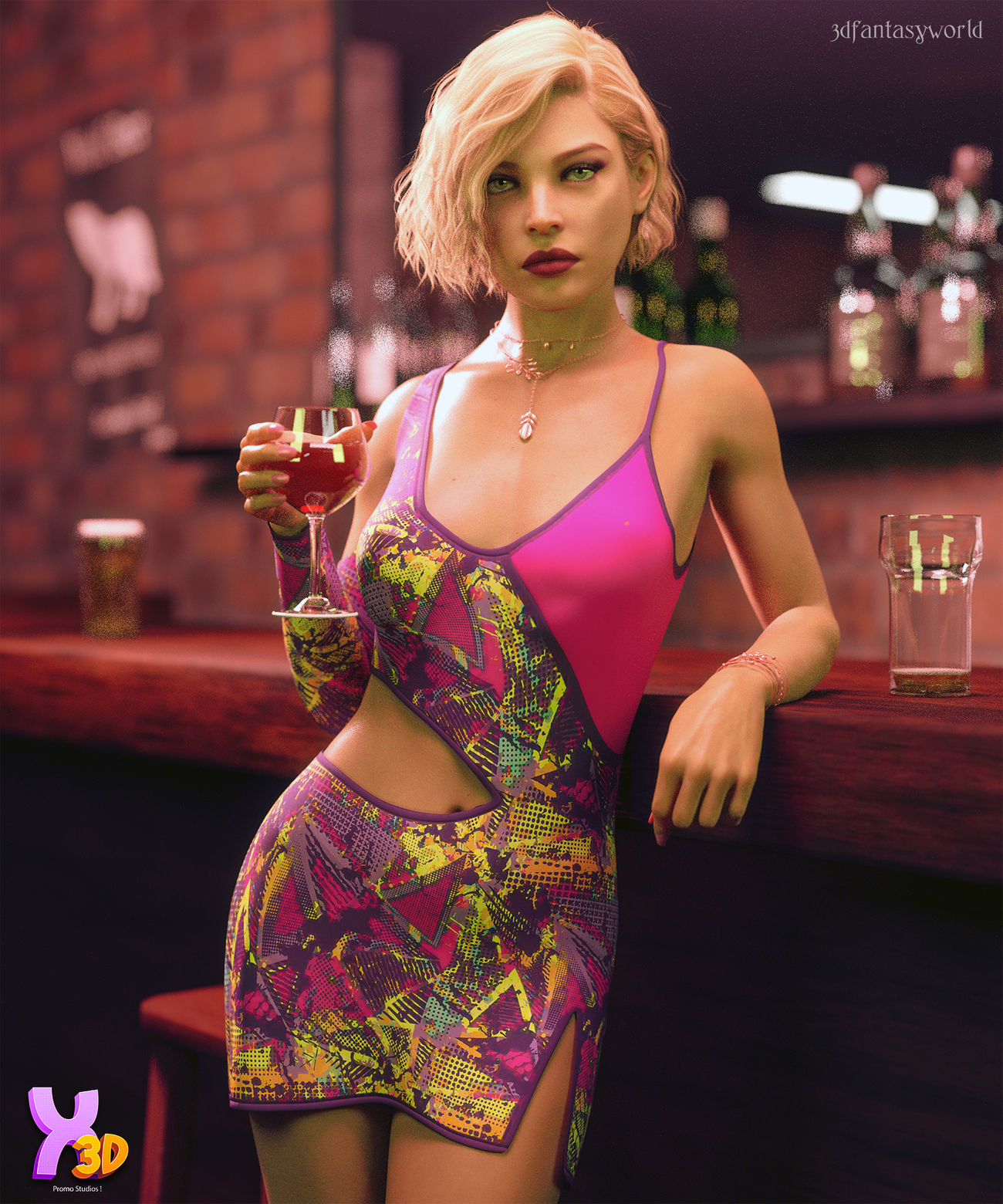 Disco Claudy Outfit G8F by fantasy3dworld