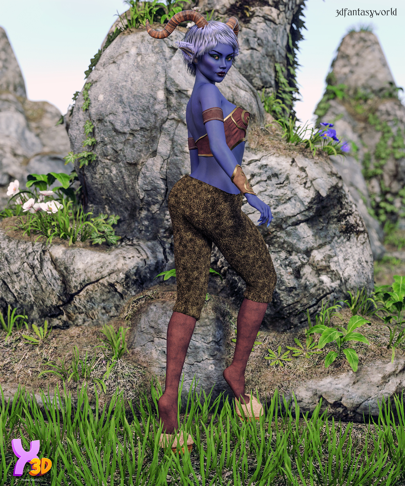 X-Fashion Satyr Outfit for G8F by fantasy3dworld