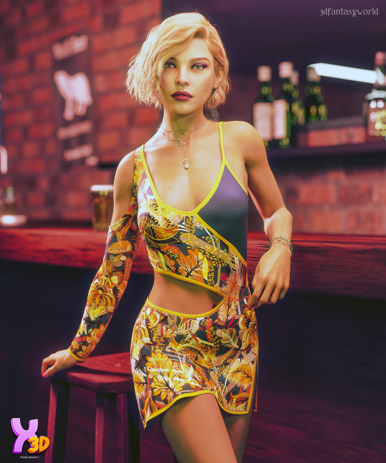 Hawaii Claudy Outfit G8F by fantasy3dworld