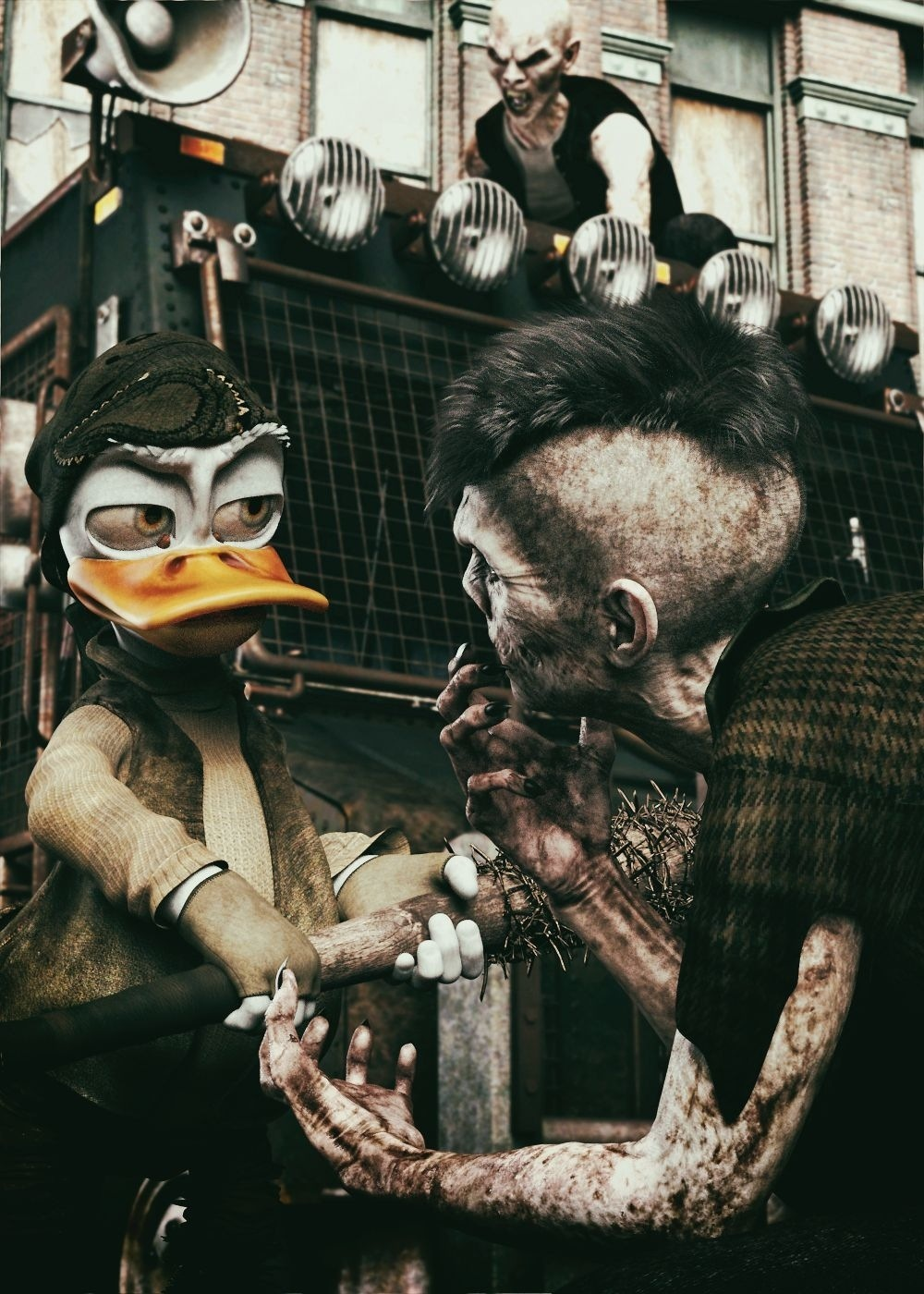 Rick Duck, the Zombie Hunter by Krid