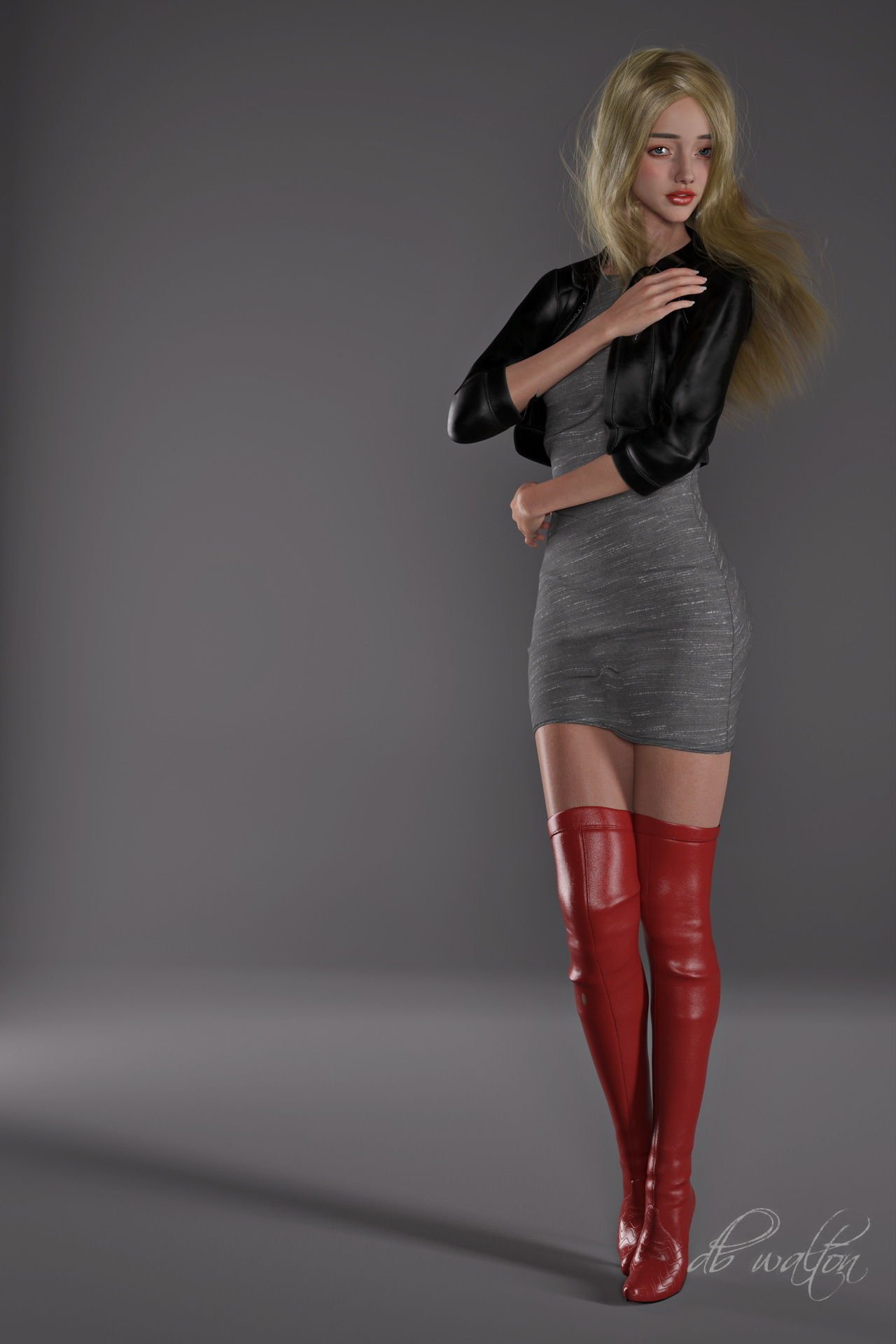 Red Boots 1 by dbwalton