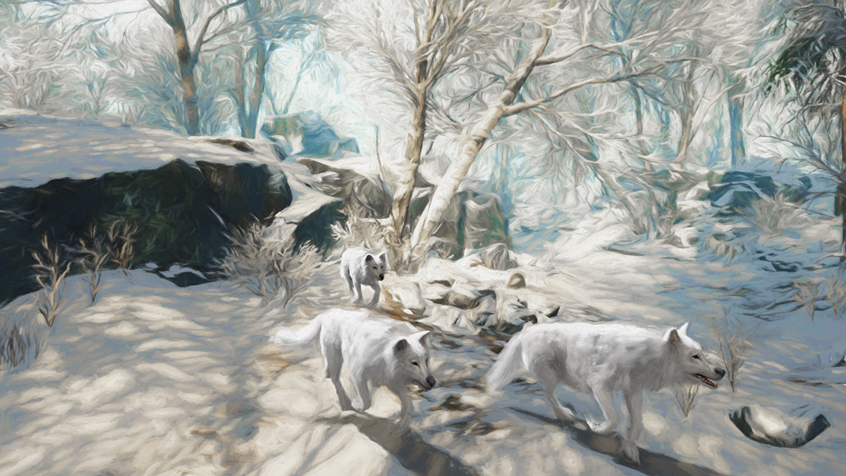 Wolves in winter by martial