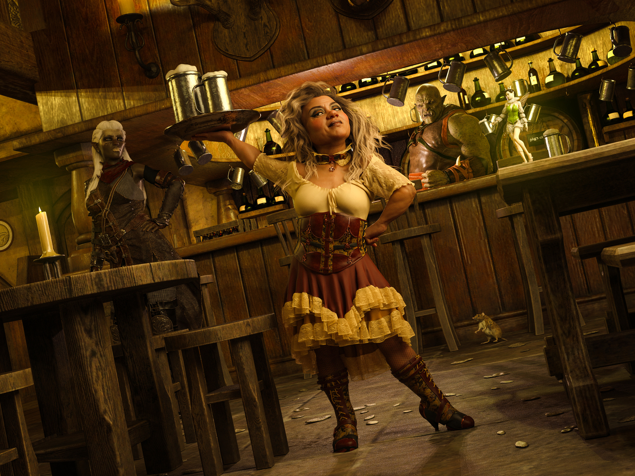 The Barmaid by torgas
