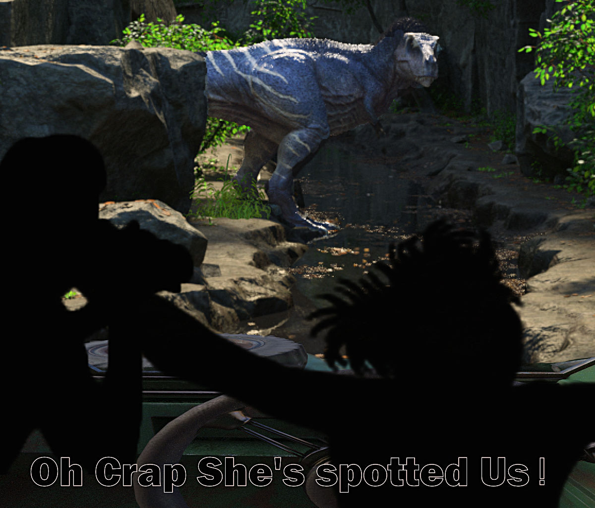Oh Crap She see's Us by keener