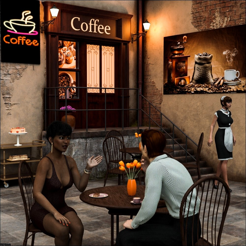 Evening at the cafe by nemesis74s