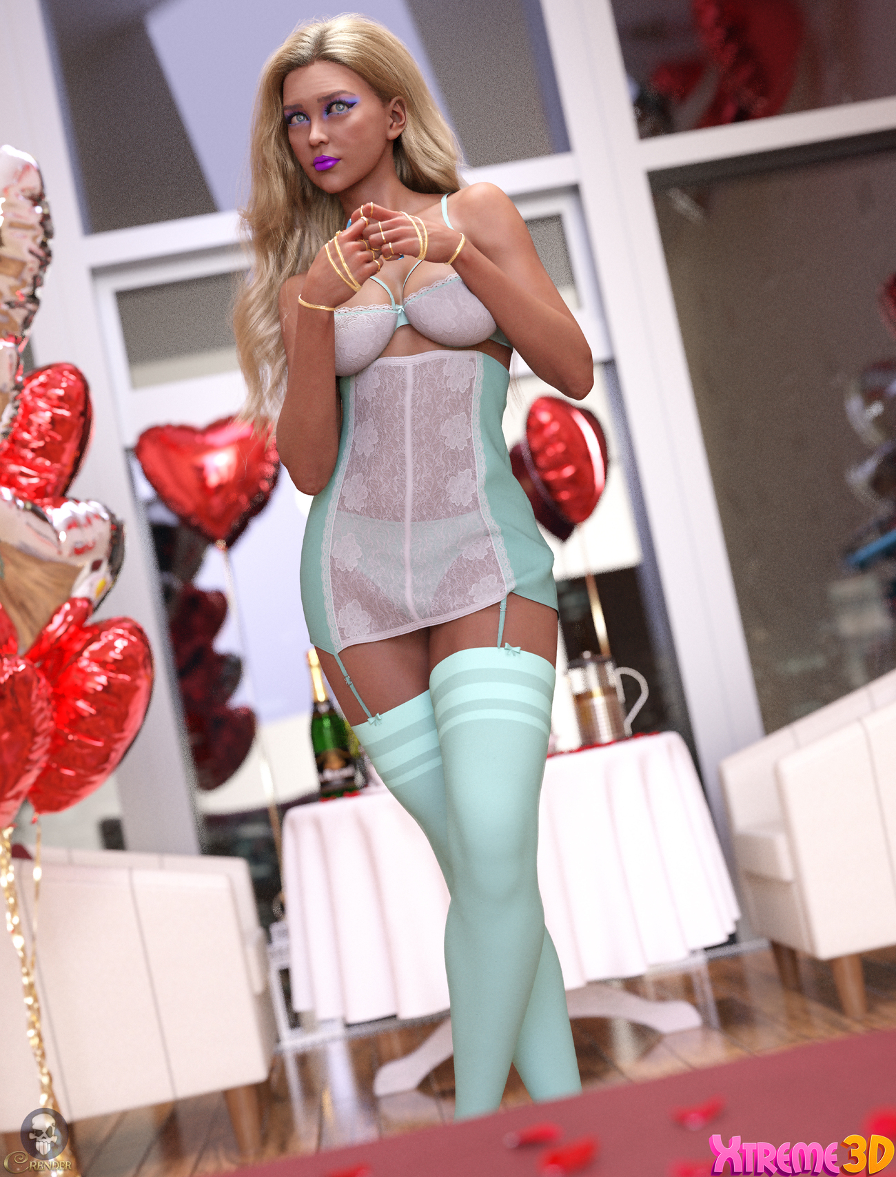 dforce Pretty Woman outfit for G8F 2 by crender