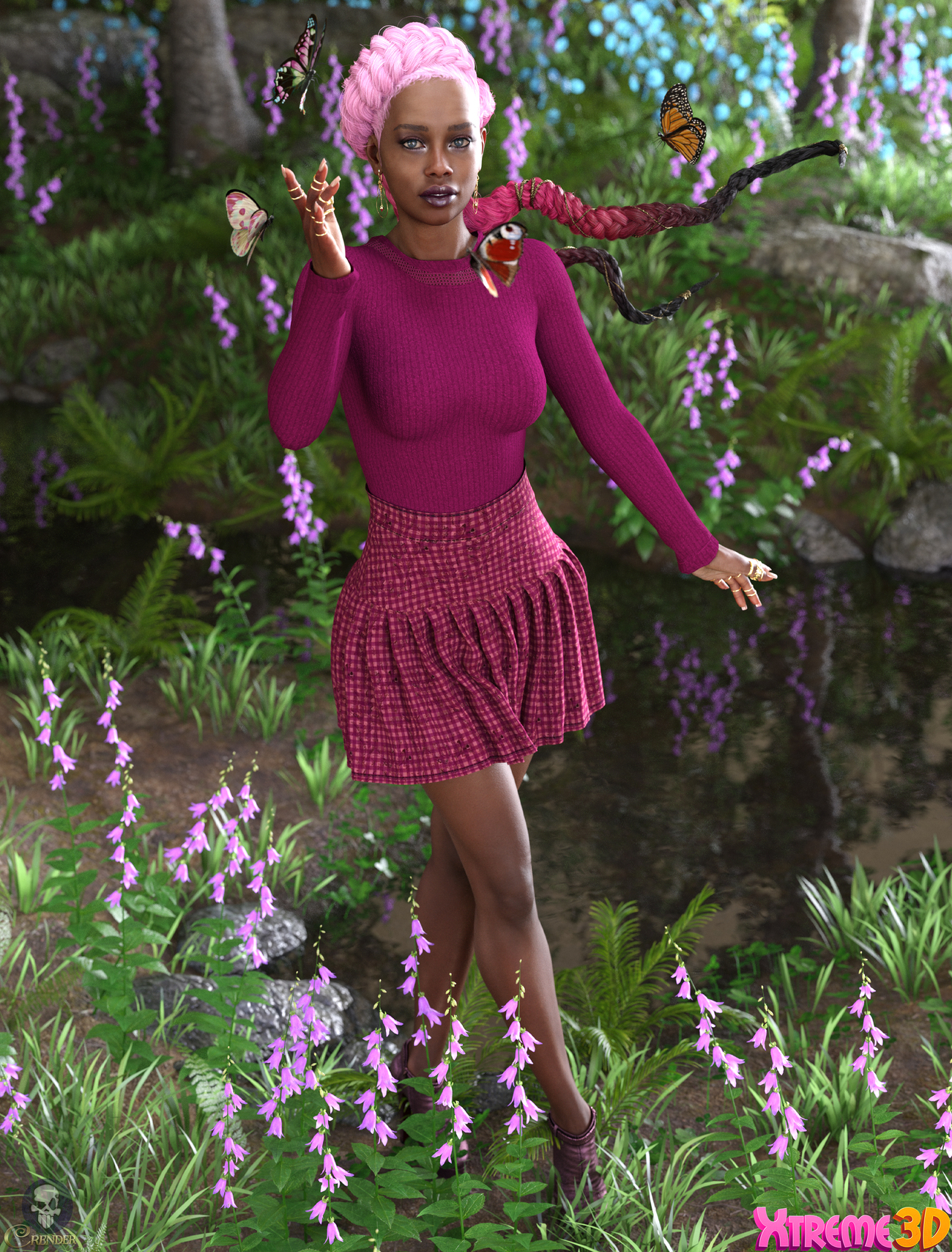 dForce Coco Outfit for G8F and G8.1F by Nelmi by crender