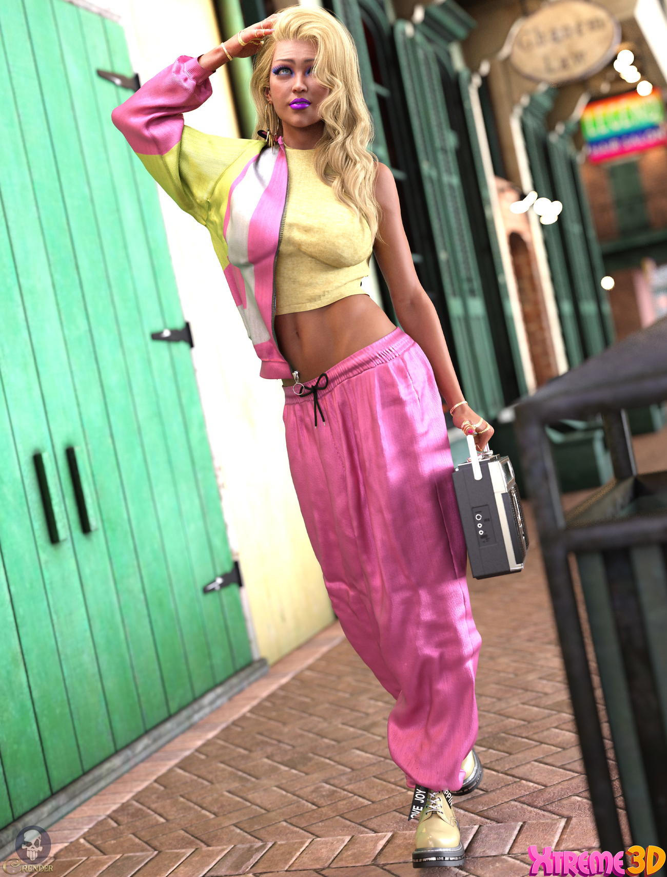 dForce Track Suit outfit for G8F 2 by crender