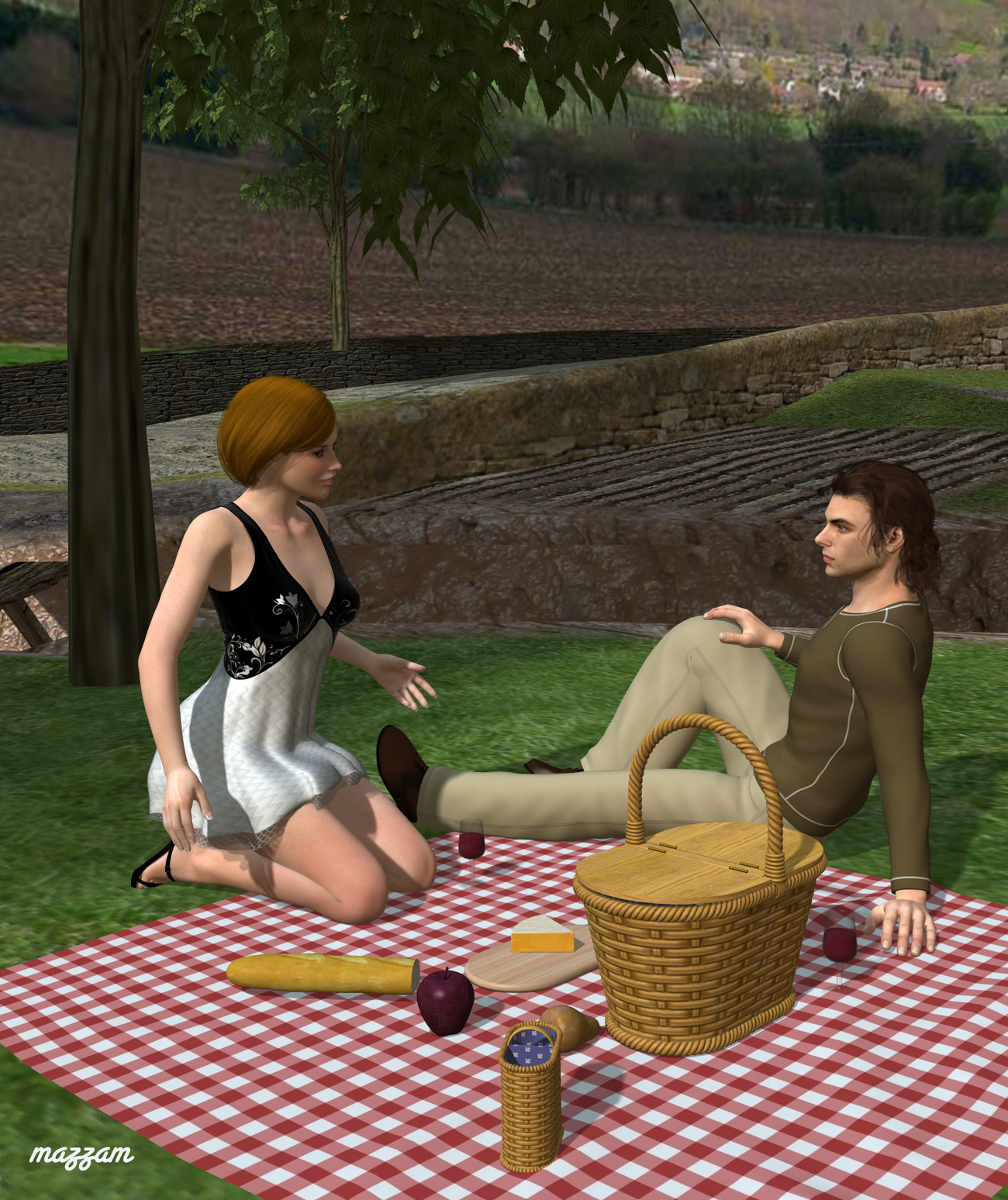 22 - Picnic on the Grass by mazzam