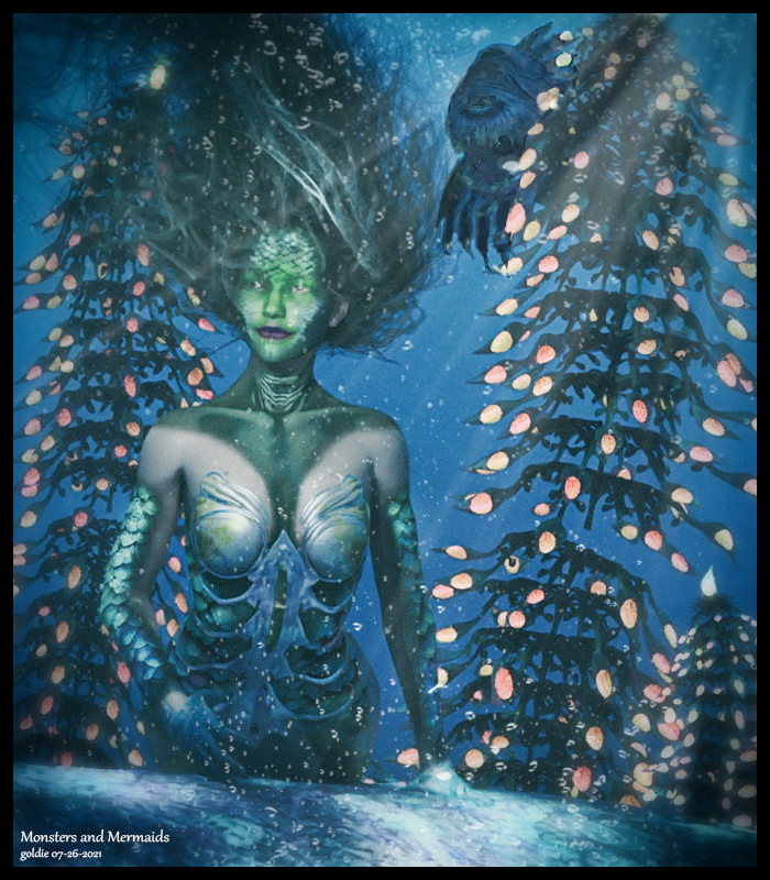 Mermaids and Monsters by goldie