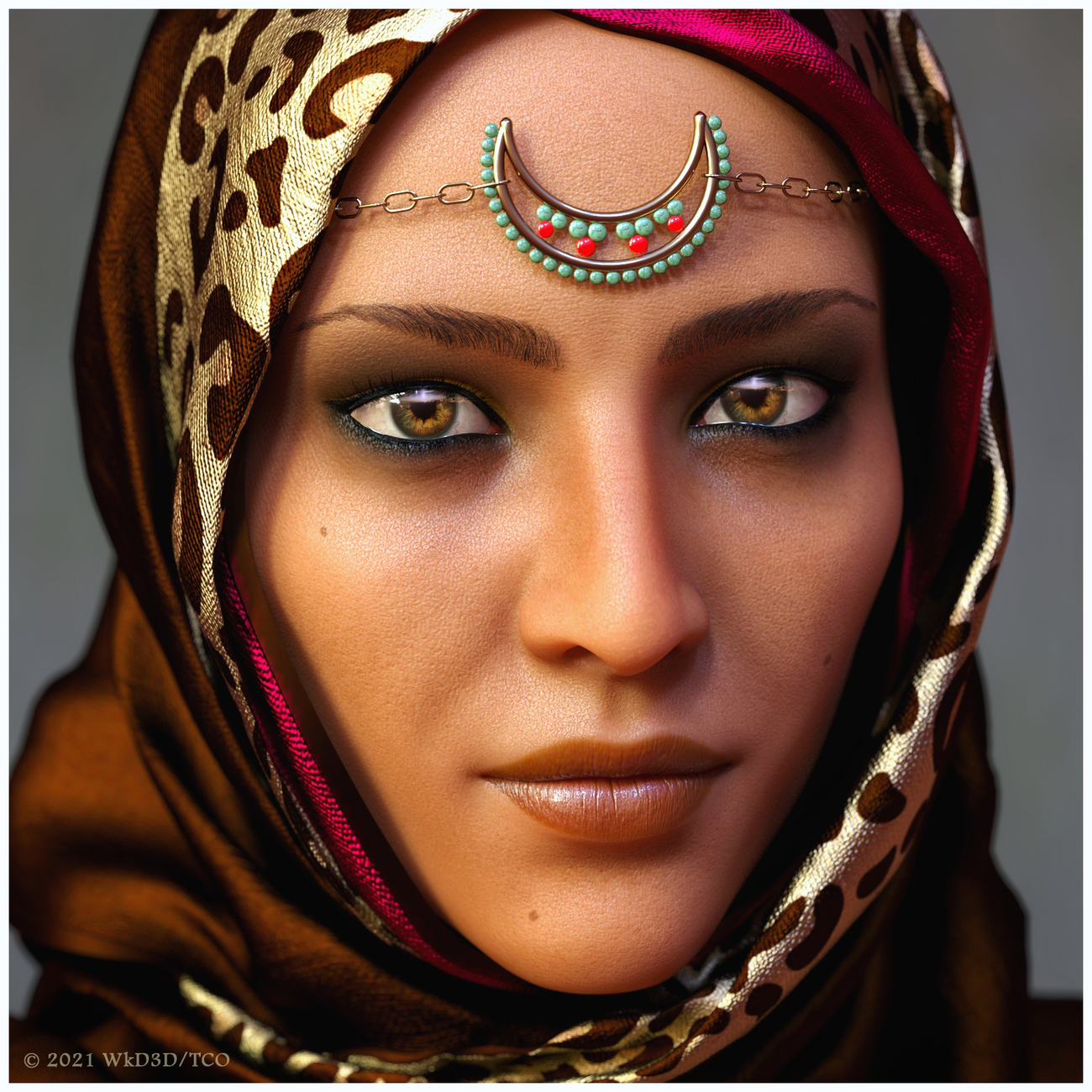 Maysoon Arabic Portrait by tomcatoliver
