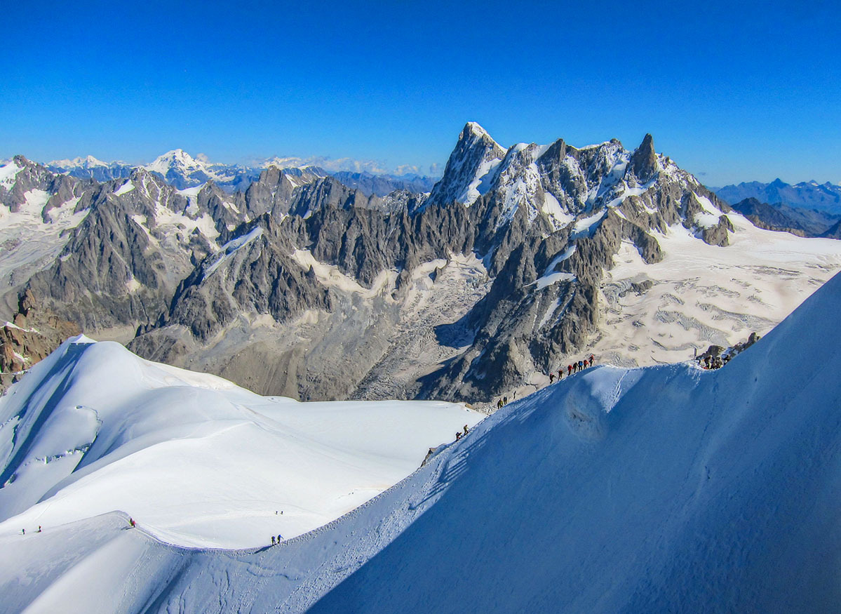 View from the Aiguille du Midi,  Mont Blanc,  Fran by martial