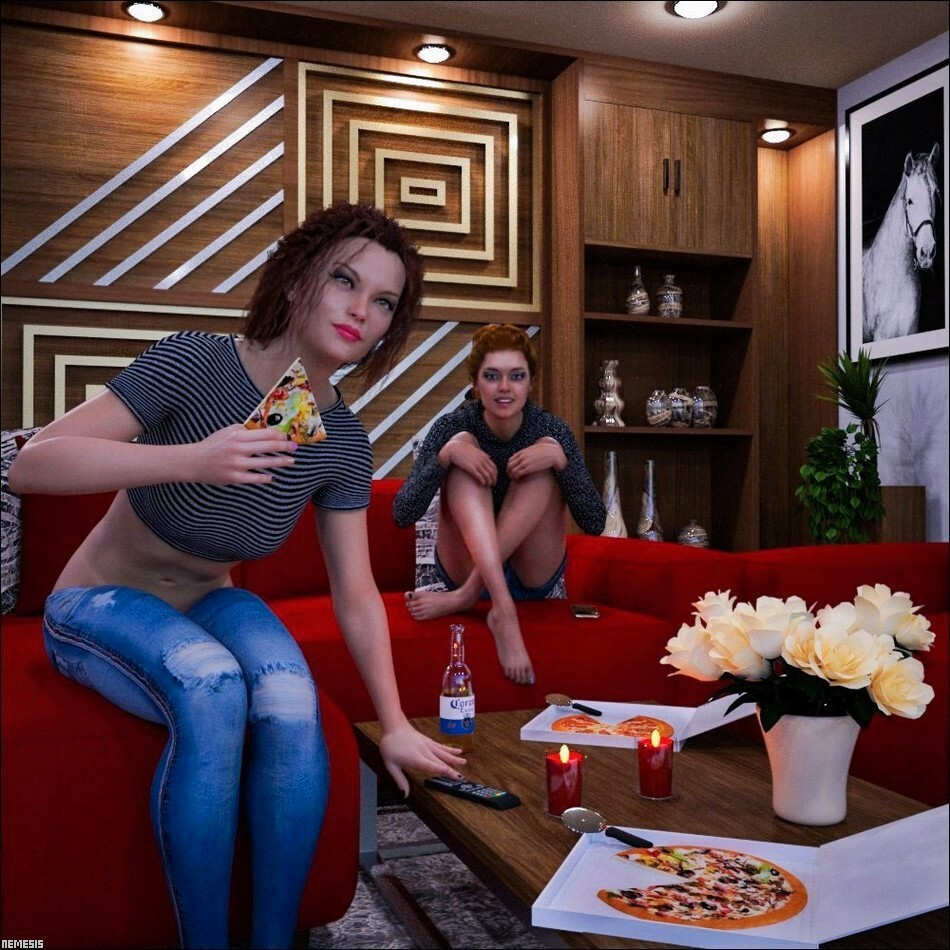 Movie and pizza by nemesis74s