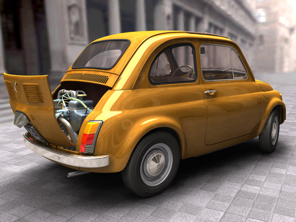 Fiat 500 with motor by Jean-Claude