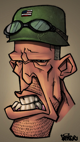 soldier by vince colored by shal