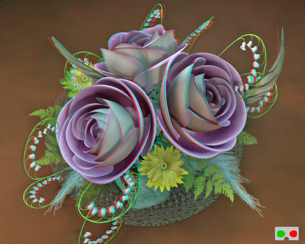 3D Rose Bouquet by ronjonk