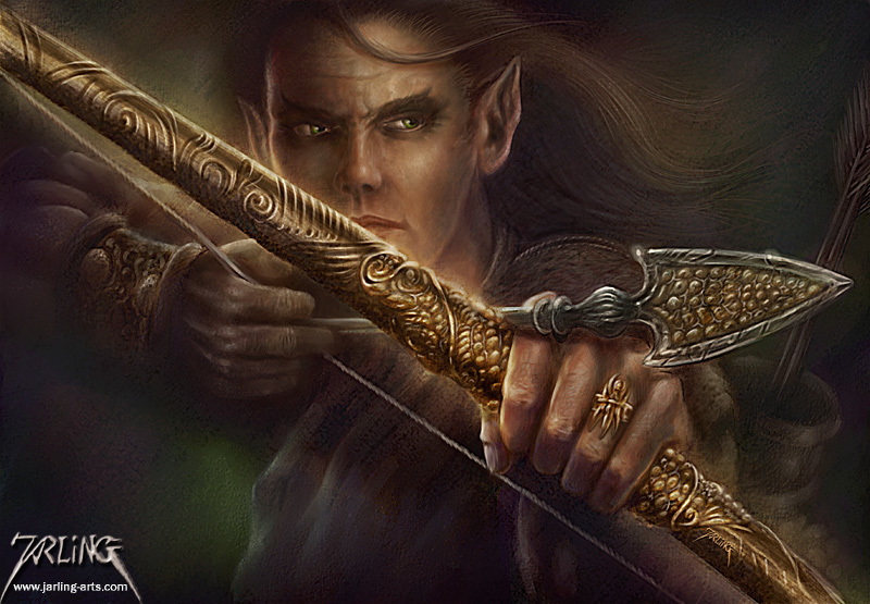 Elfwood Bow by j-art